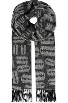 MCQ ALEXANDER MCQUEEN Wool razor scarf