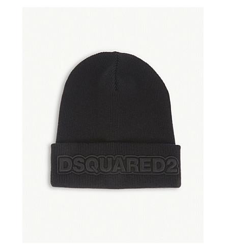 DSQUARED2 Logo wool beanie (Black