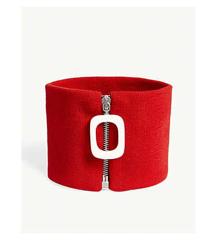 JW ANDERSON Zipped wool neckband (Pillabox+red
