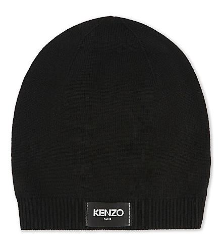 KENZO Logo wool beanie (Black