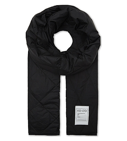 KENZO Quilted scarf (Black