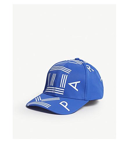 KENZO Logo nylon baseball cap (Blue