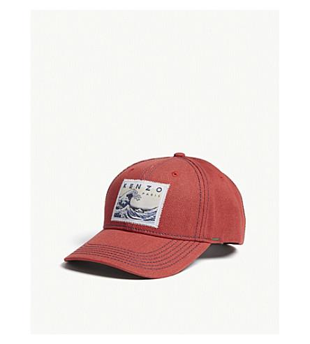 KENZO Logo-patch denim snapback cap (Medium+red