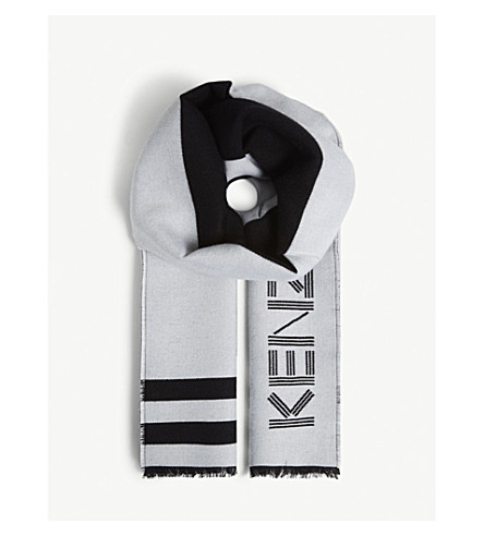 KENZO Sport logo print scarf (Black