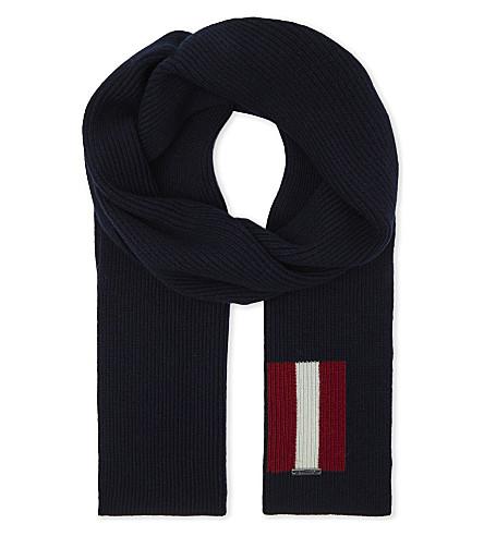 BALLY Trainspotting wool scarf (Ink