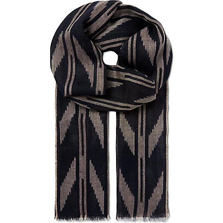 JANE CARR The Ikat scarf (Cobalt