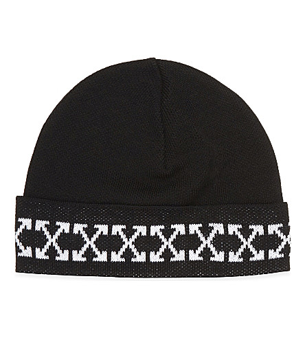 OFF-WHITE C/O VIRGIL ABLOH Arrows knitted beanie (Black+white