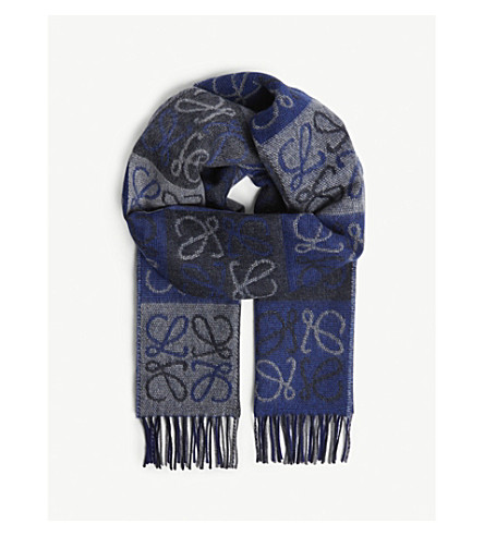 LOEWE Anagram wool and cashmere scarf