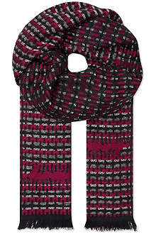 MISSONI Missoni mixed wave stripe scarf