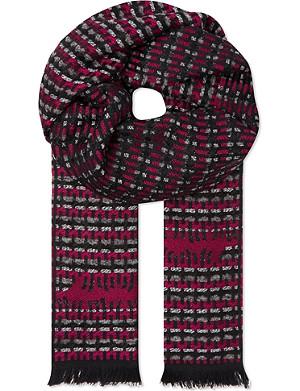 MISSONI Missoni mixed wave stripe scarf