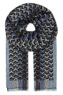 MISSONI Missoni zig zag stripe scarf