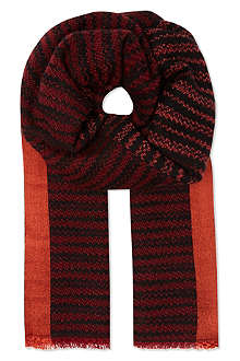 MISSONI Missoni blurred stripe scarf