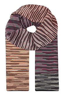 MISSONI Missoni broken stripe wool scarf