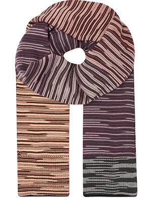 MISSONI Missoni broken stripe wool scarf