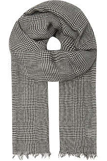 DESTIN Checked cashmere scarf
