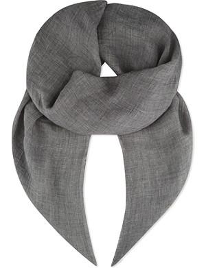 DESTIN Frayed linen & cashmere scarf