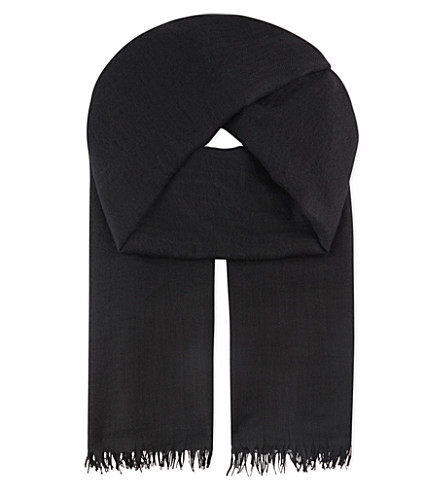 BEGG AND CO Staffa scarf (Black