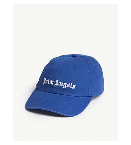 PALM ANGELS Classic logo-embroidered cotton cap (Blue