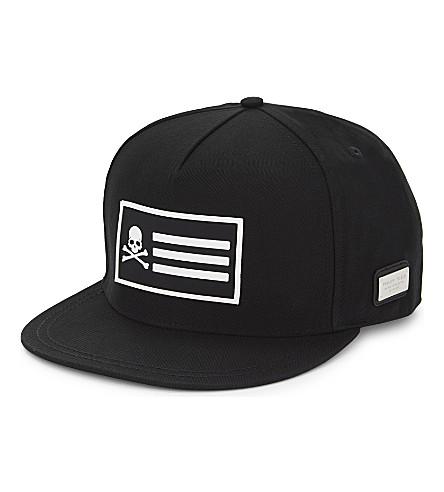 PHILIPP PLEIN Jimmy flag baseball cap (Black/nickel