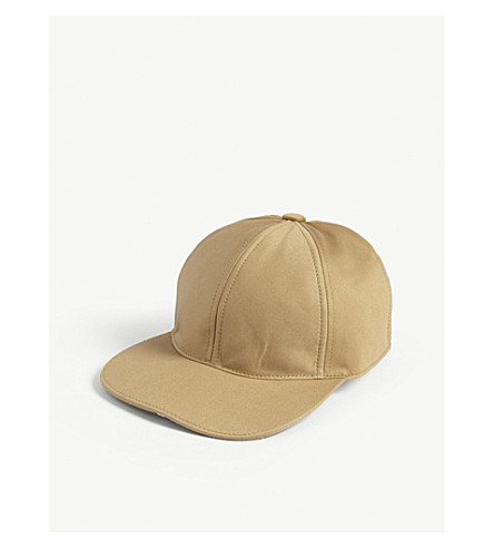 THOM BROWNE Striped seam cotton-twill strapback cap (Khaki