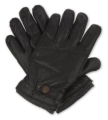HESTRA Utsjo leather gloves (Blk