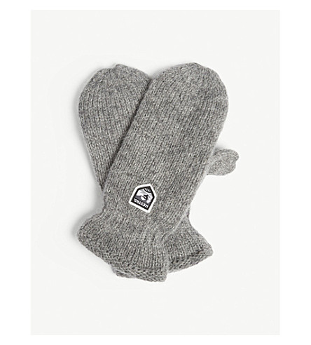 HESTRA Thinsulate wool mittens (Grey