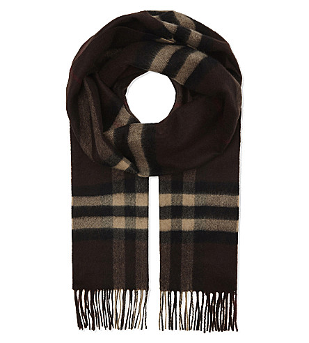 BURBERRY Giant check cashmere scarf (2097b