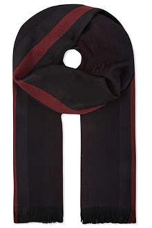 GUCCI Logo stripe scarf