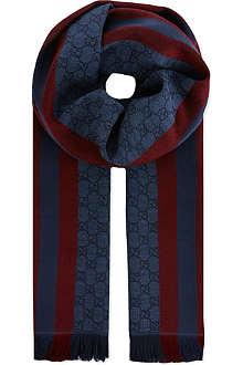 GUCCI Verbier stripe scarf