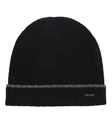BOSS Fati wool beanie (Black