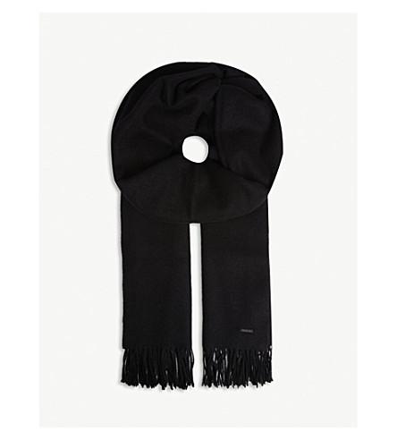 BOSS Heroso 羊毛围巾 (黑色