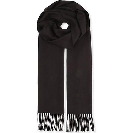 HUGO BOSS Scottas cashmere scarf (Black