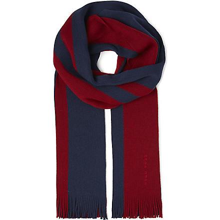 HUGO BOSS Bold stripe logo scarf (Multi