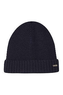 HUGO BOSS Ribbed logo beanie