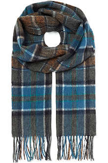 HUGO BOSS Check wool scarf