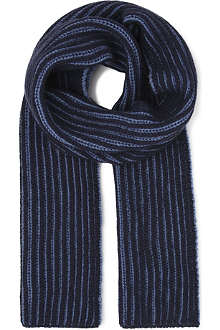 JOHNSTONS Plaited rib scarf