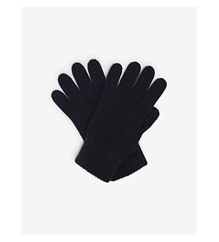 JOHNSTONS Plain cashmere gloves (Navy