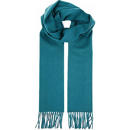 JOHNSTONS Cashmere plain scarf (Jade