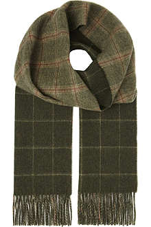 JOHNSTONS Glen check bright cashmere scarf