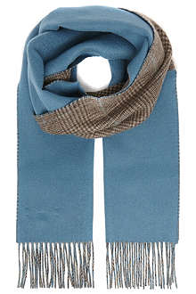 JOHNSTONS House check cashmere scarf
