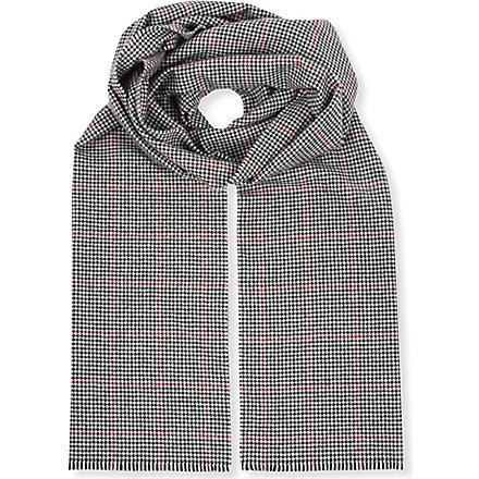 JOHNSTONS Vintage tweed cashmere scarf (Houndstooth