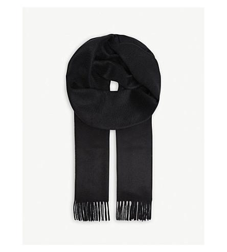 JOHNSTONS Tartan cashmere scarf (Black