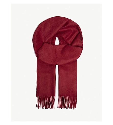 JOHNSTONS Tartan cashmere scarf (Merlot
