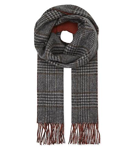 JOHNSTONS Reversible cashmere scarf (Check plain