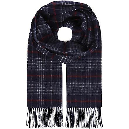 JOHNSTONS Lamora tartan scarf (Navy