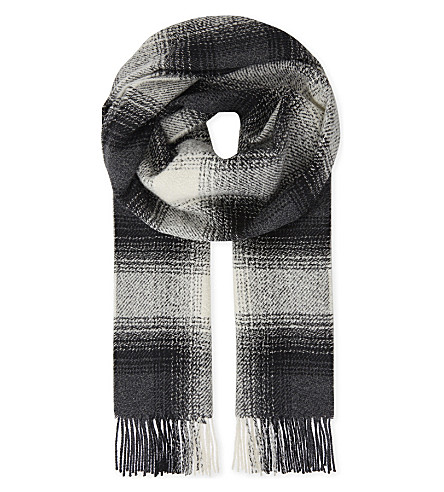 JOHNSTONS Cashmere Boucle Fancie scarf (Ombre