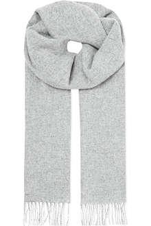 JOHNSTONS Plain lambswool scarf