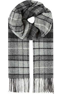 JOHNSTONS Lambswool check scarf