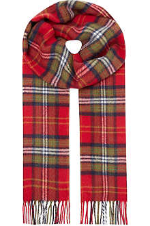 JOHNSTONS Lambswool checked scarf