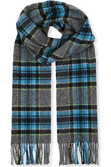 JOHNSTONS Fancy windowpane scarf